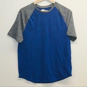 Old Navy Blue / Gray Baseball Tee Size M
